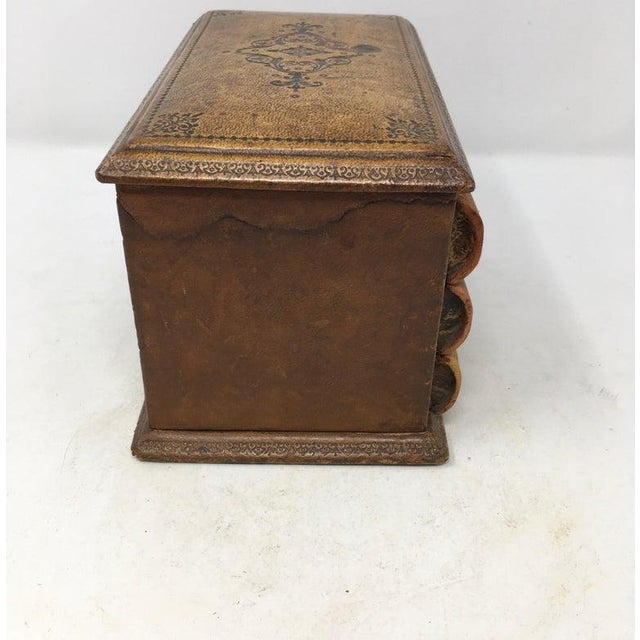 Vintage French Book Style Cigarette Box Desk Organizer For Sale - Image 9 of 12