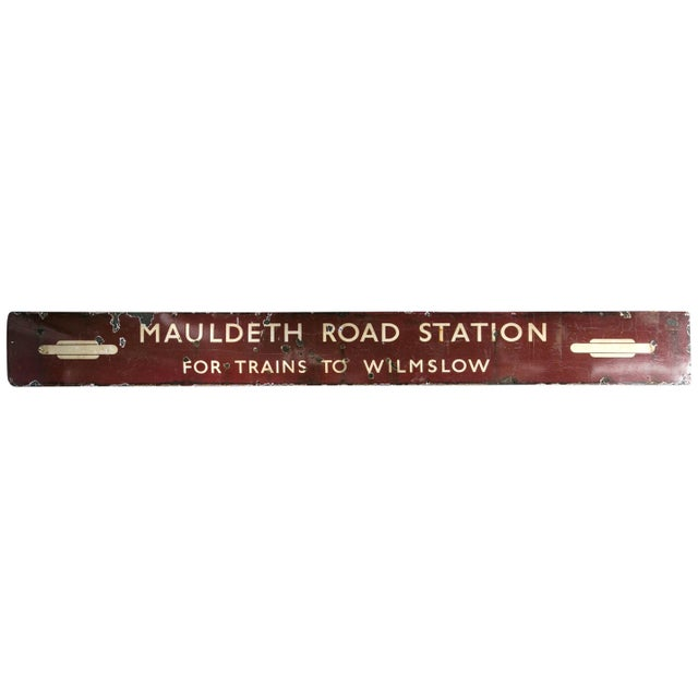 Antique English Railway Sign For Sale In New York - Image 6 of 6