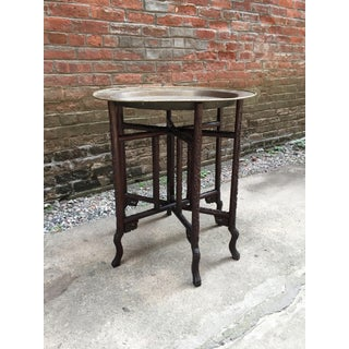 19th Century Chinese Rosewood and Brass Folding Table Preview
