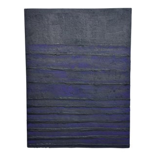 1980's Textured Abstract Painting