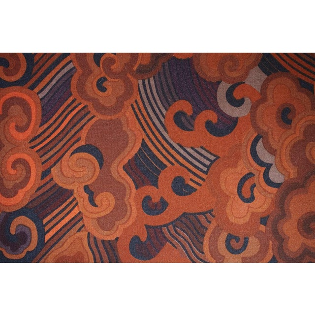 """Textile Harvey Probber Tuxedo Sofa with Jack Lenor Larson """"Happiness"""" Upholstery For Sale - Image 7 of 8"""