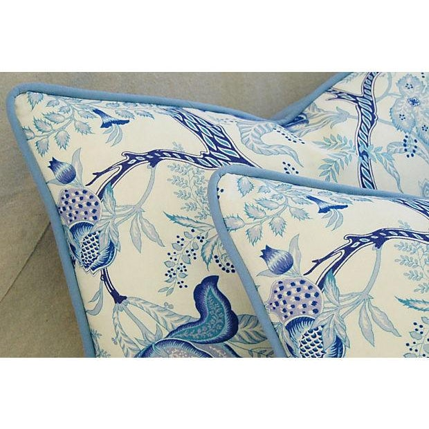 Designer Stroheim Jaidee Blue/White Pillows - Pair - Image 4 of 8