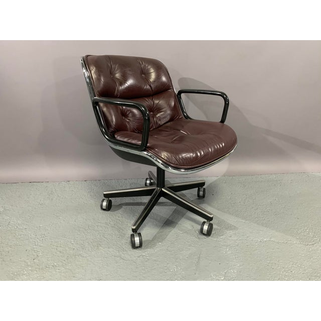 Metal Leather Executive Chairs by Charles Pollock for Knoll International - Set of 4 For Sale - Image 7 of 13
