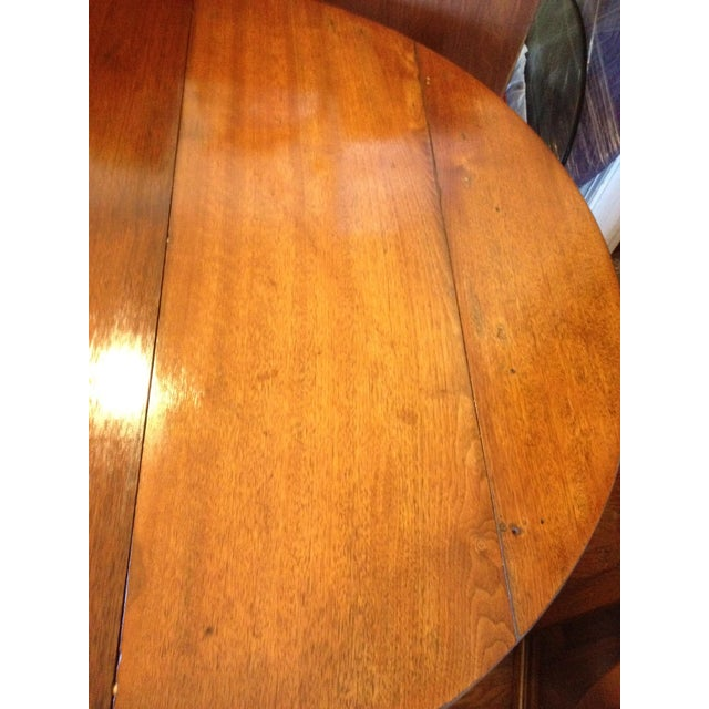 Wood Antique 1860 Black Walnut Extendable Farm Dining Table For Sale - Image 7 of 12