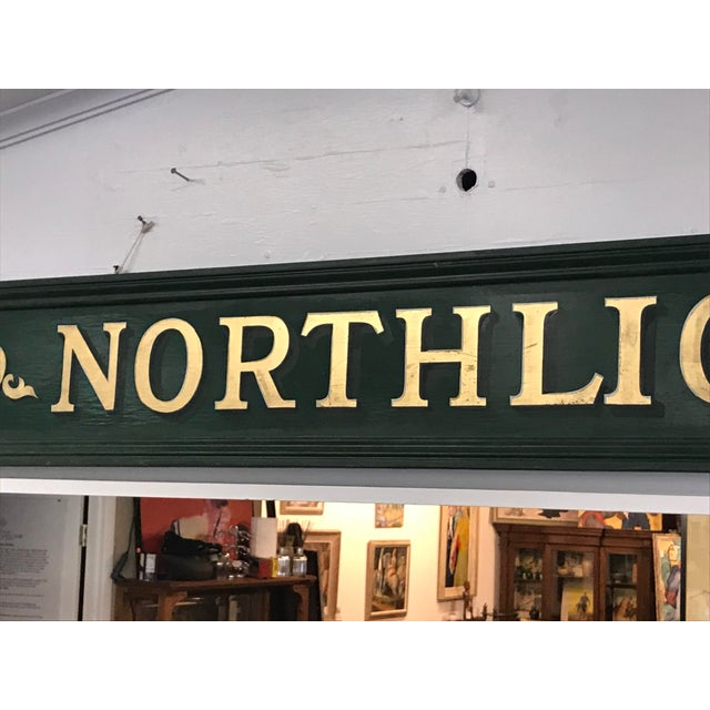 Americana Vintage Northlight Decorative Sign For Sale - Image 3 of 7