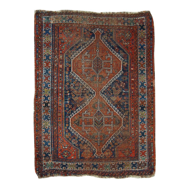1910s Antique Persian Shiraz Rug - 3′9″ × 5′ - Image 1 of 11