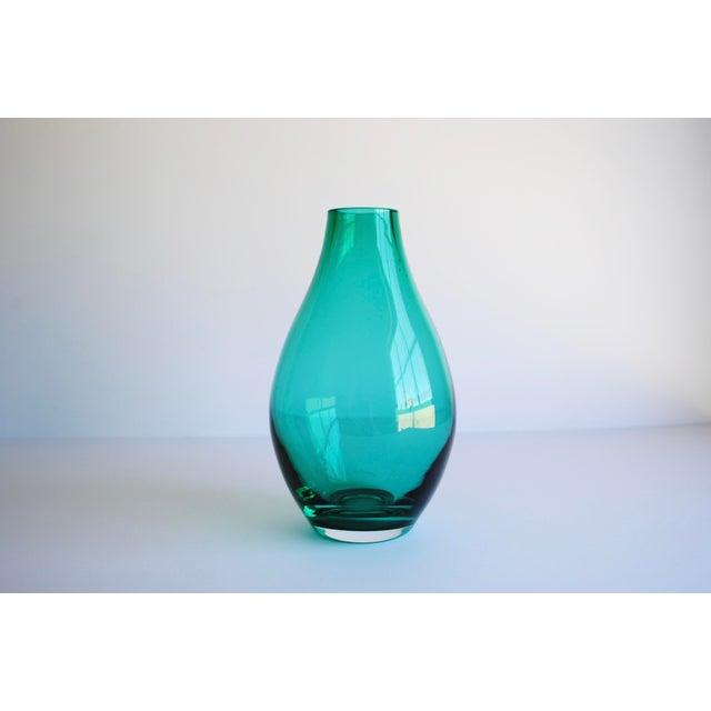 Teal Green Vase - Image 2 of 3