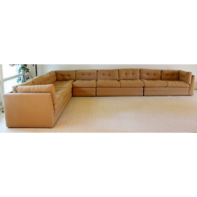 Modern Contemporary Modern Vladimir Kagan for Preview 5 Pc L Shape Sectional Sofa 1980s For Sale - Image 3 of 9