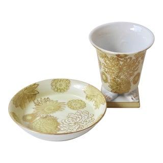 Porcelain Smoking Set - 2 Pieces For Sale