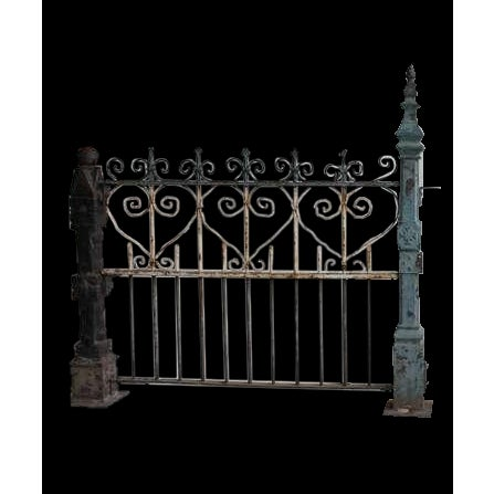 Custom Made Antique Cast Iron Fence For Sale In Chicago - Image 6 of 6