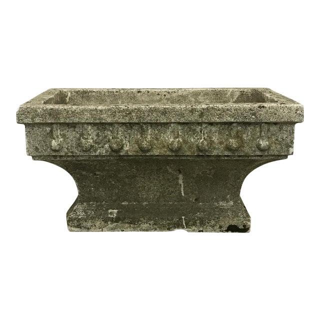 Rectangular Cast Stone Planter - Image 1 of 7