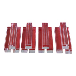 """1950s Baccarat France """"Vega"""" Crystal Knife Rests, Set of 12 For Sale"""