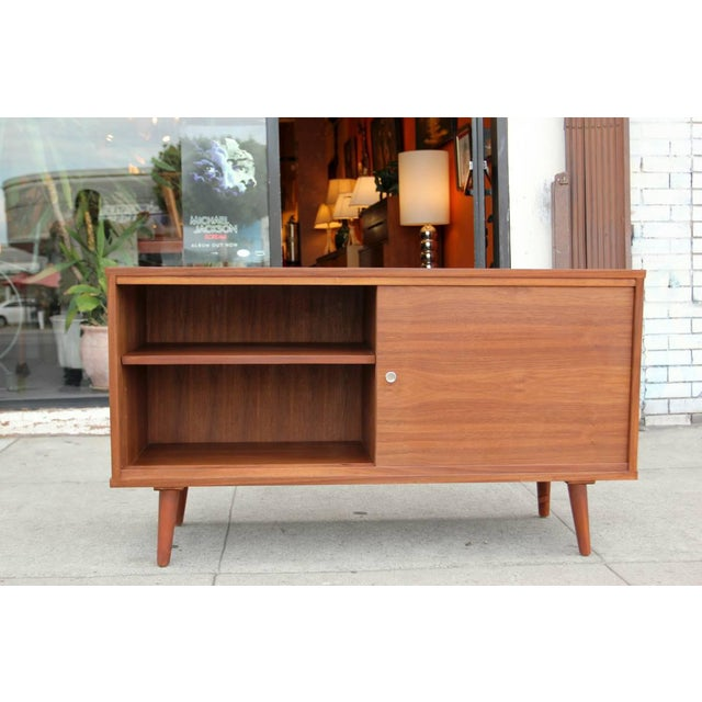Mid-Century Style Walnut Credenza For Sale - Image 9 of 11