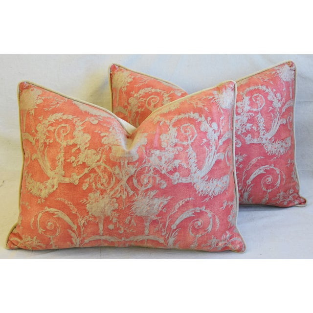 """Cotton Italian Fortuny Festoni Feather/Down Pillows 24"""" X 18"""" - Pair For Sale - Image 7 of 13"""