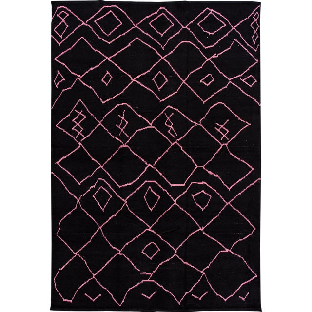 21st Century Modern Moroccan-Style Wool Rug For Sale - Image 13 of 13