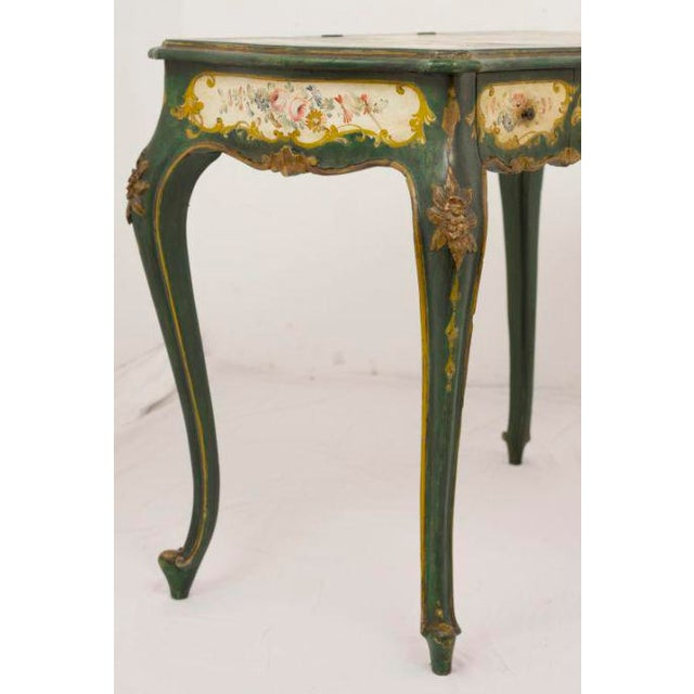 Italian Late 19th Century Venetian Painted Desk or Dressing Table For Sale - Image 3 of 4