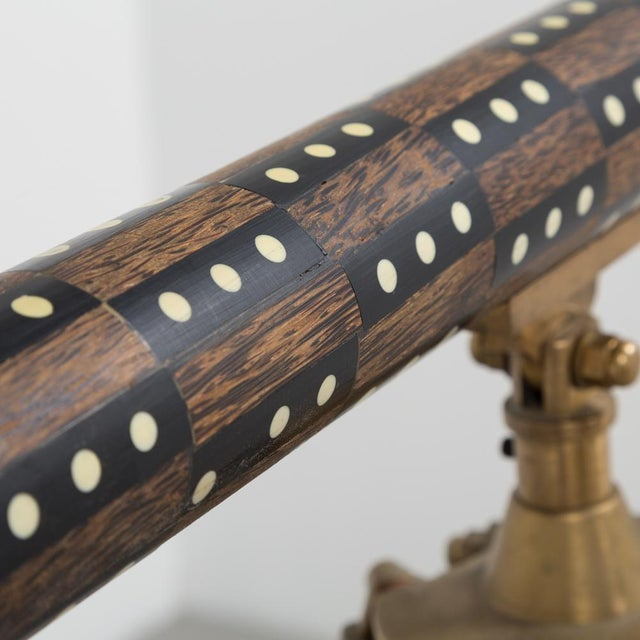 1990s Wooden Telescope With Bone Inlay 1990s For Sale - Image 5 of 7