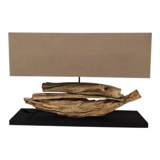 1990s Americana Rustic Wood-Based Table Lamp
