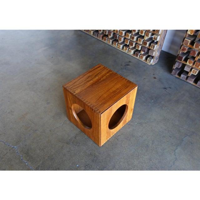 Teak 1960s Peter Hvidt for Richard Nissen Cube Nesting Tables - a Pair For Sale - Image 7 of 12
