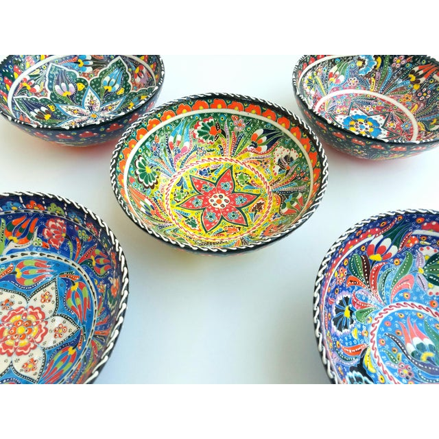 Turkish Anatolian Bowls - Set of 5 - Image 3 of 6