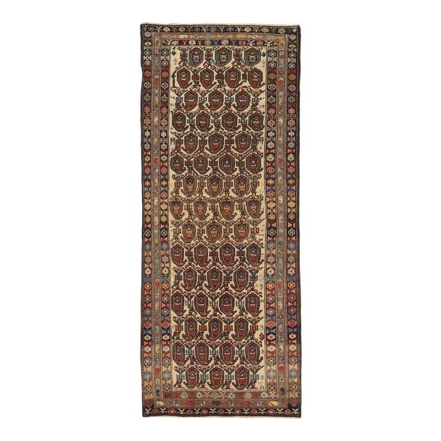 Antique Persian Area Rug Bakhtiar Design For Sale
