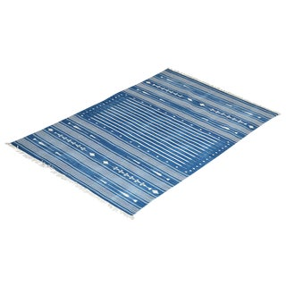 Foxglove Rug, 4x6, Blue & White For Sale
