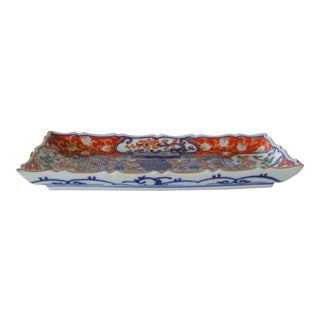 Japanese Imari Rectangle Dish For Sale