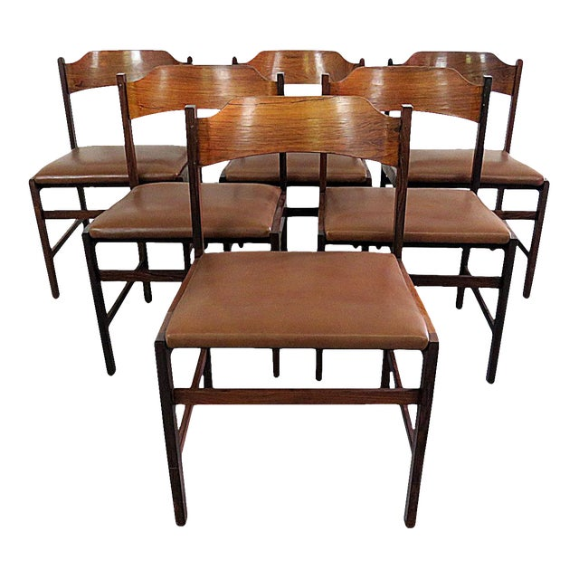 Frattini Rosewood Dining Side Chairs - Set of 6 - Image 1 of 7
