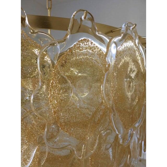 Gold Cloud Chandelier by Mazzega For Sale In Palm Springs - Image 6 of 7
