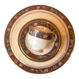 """Traditional Lenox 5 Piece Place Setting, """"Witherspoon"""" For Sale"""