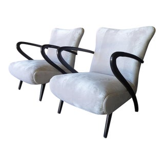 Pair of 1950s Italian Armchairs Attributed by Paolo Buffa For Sale