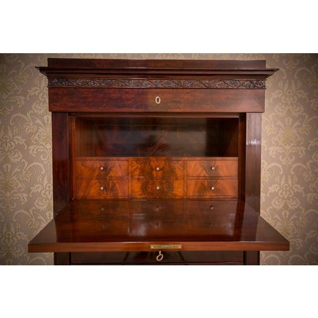 Biedermeier Biedermeier Mahogany Secretary Desk, circa 1860, after Renovation For Sale - Image 3 of 9