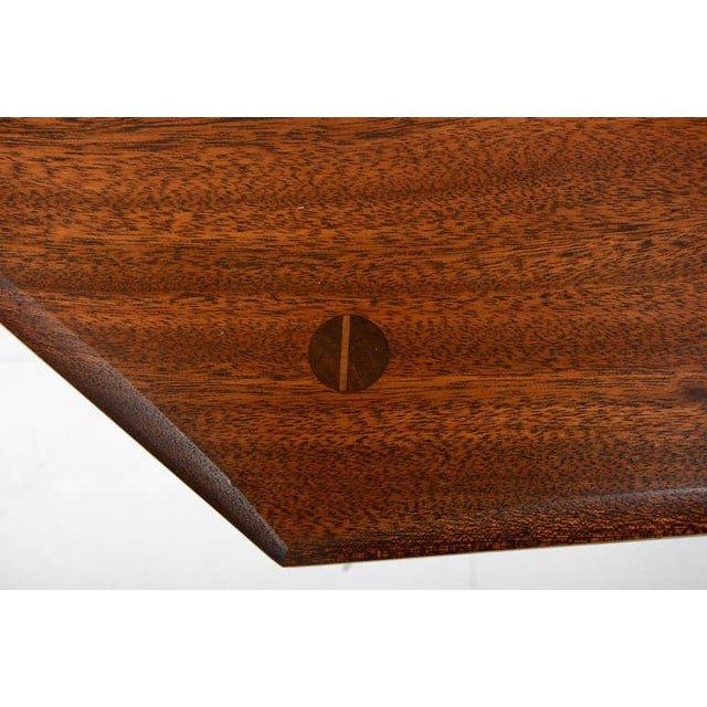 Octagon Solid Mahogany Side Table For Sale In San Diego - Image 6 of 8