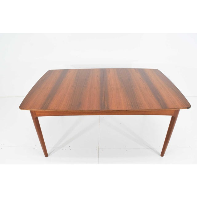 1950s Rosewood and Teak Dining Table by Worts Mobler For Sale - Image 5 of 11