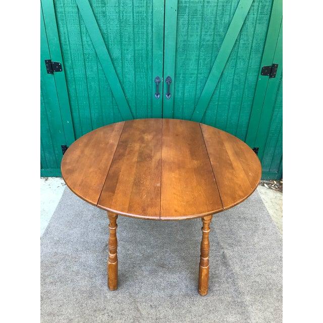 1950s Vintage Sibley Lindsay & Curr Co. Drop Leaf Kitchen Table For Sale - Image 5 of 13