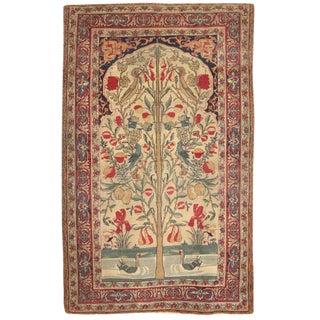 Antique 19th Century Persian Lavar Kerman Rug For Sale