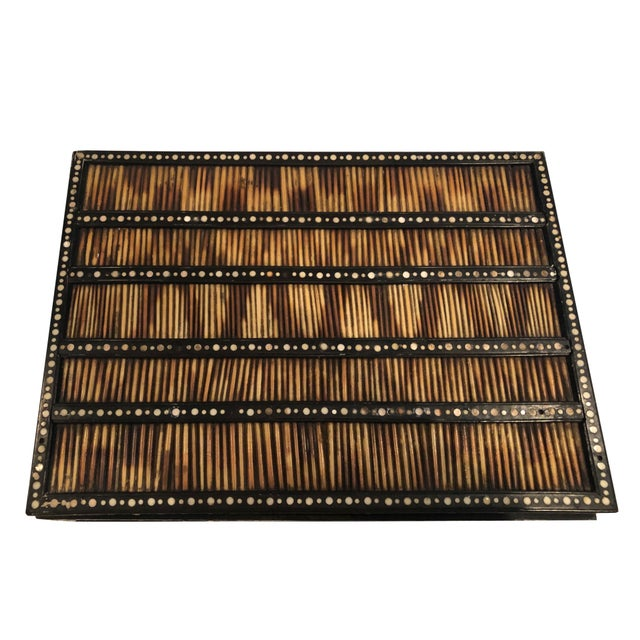 English 19th Century Anglo Indian Porcupine Quill Decorated Work Box For Sale - Image 3 of 8