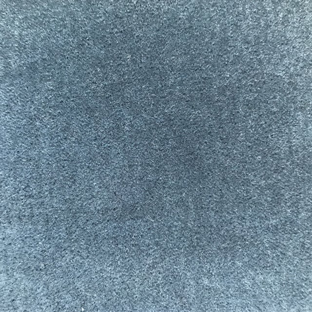Mohair Hague Blue Mohair Velvet Pillows - a Pair For Sale - Image 7 of 9