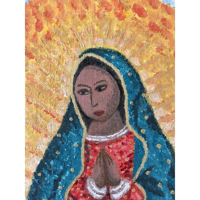 Our Lady Of Guadalupe Mexican Folk Art Painting Chairish