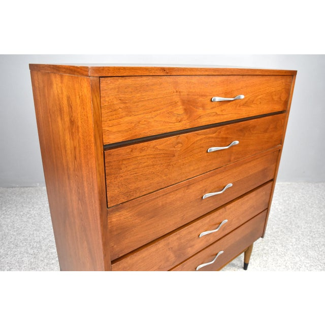 1960s Mid-Century Modern Highboy Chest by Lane Acclaim For Sale - Image 5 of 13