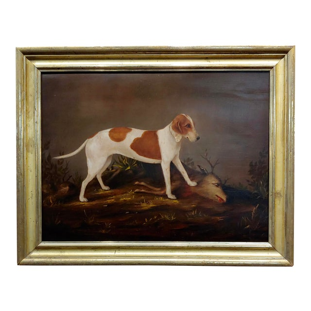 Hunting Dog Over A Killed Deer American Folk Art 18th Century Oil Painting Chairish