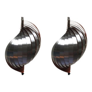 Henri Mathieu Pair of Kinetic Sconces For Sale