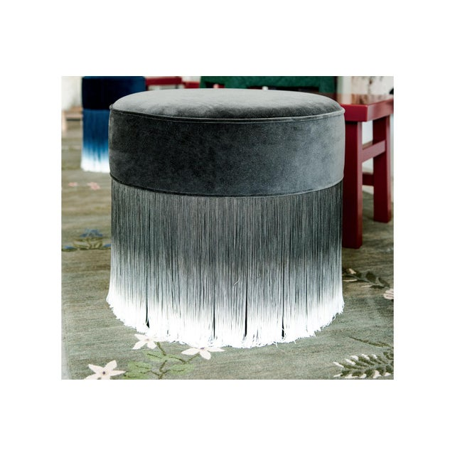 Dark Gray Velvet Small Anami Pouf By Moooi This Amami pouf from Moooi is simply irresistable. Dressed in dark gray velvet,...