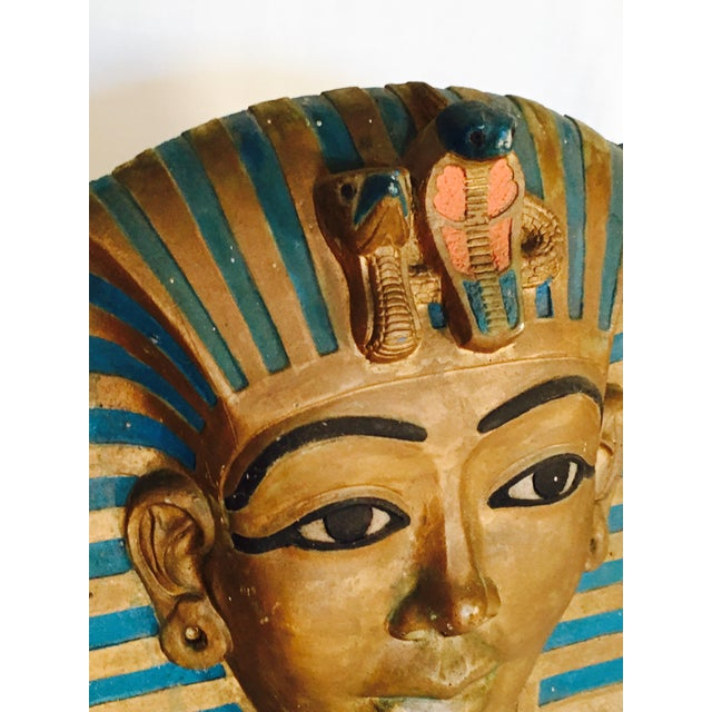 King Tut Plaques on Lucite Stands - A Pair - Image 3 of 6