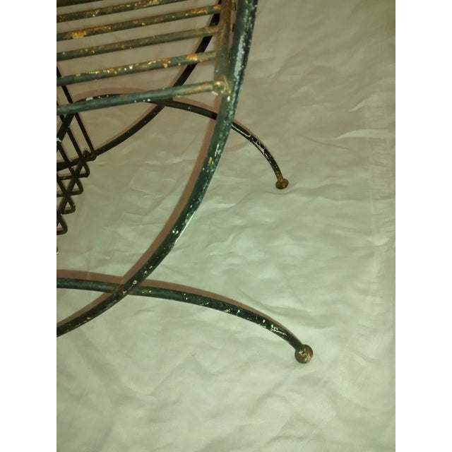 Mid Century Modern Wire Plant Stand Shelf - Image 5 of 8