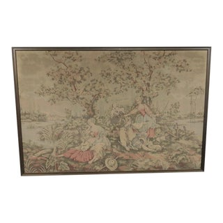 French Courting Scenic Landscape Tapestry