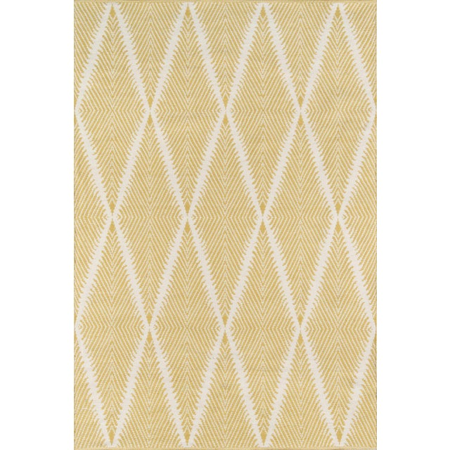 """Acrilyc Polymer Erin Gates by Momeni River Beacon Citron Indoor Outdoor Hand Woven Area Rug - 5' X 7'6"""" For Sale - Image 7 of 7"""