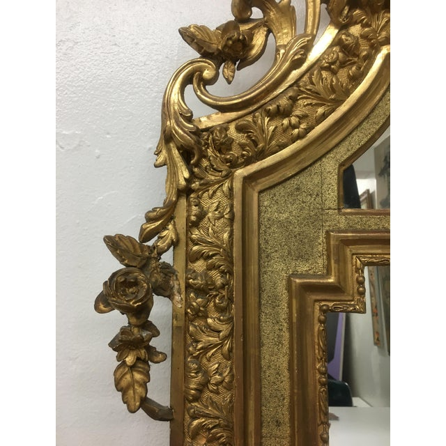 Gilt Framed Arched Floor Mirror For Sale In New York - Image 6 of 11