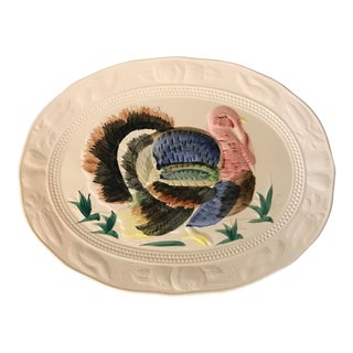 Hand Painted Thanksgiving Turkey Platter For Sale