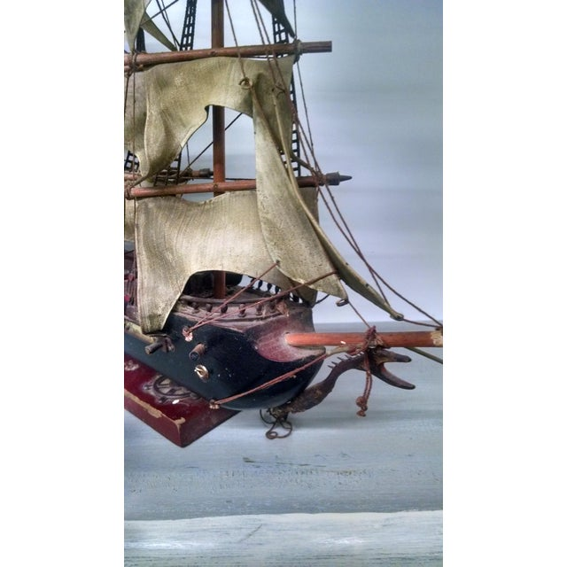 Vintage Tall Ship Model - Image 7 of 7